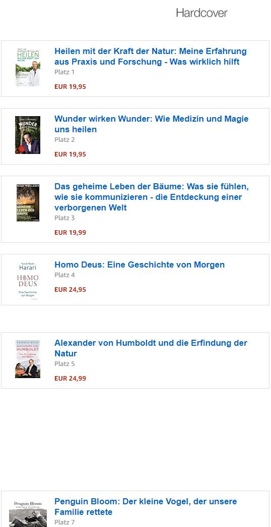 AMAZON Spiegel Bestseller Liste
